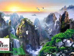 Tranh kính phong cảnh núi cao