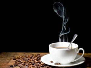 Tranh kính 3d in tách cà phê