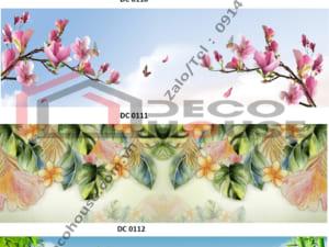 Mẫu kính bếp 3d hình hoa