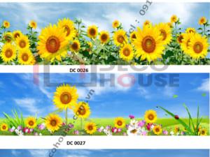 Mẫu kính bếp hoa hướng dương