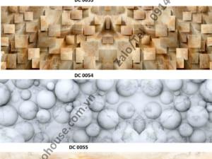 Mẫu kính ốp bếp giả đá
