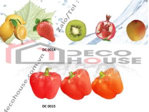 Mẫu kính ốp bếp trái cây