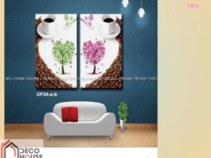 Tranh canvas cà phê nghệ thuật