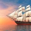 Tranh thuyền buồm 3d