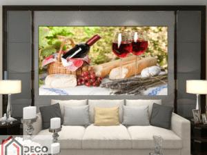 Tranh tĩnh vật rượu hoa quả