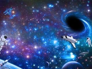 Tranh trần nhà hành tinh ban đêm