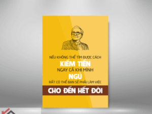 Tranh slogan triết lý kiếm tiền