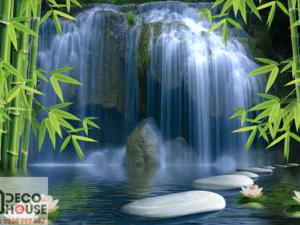Tranh dán tường thác nước 1010
