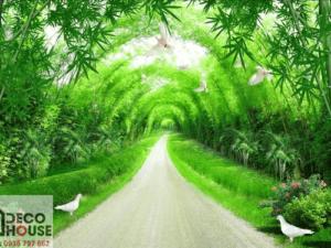 Tranh vòm cây xanh đẹp 10907