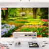 Tranh cảnh thiên nhiên vườn hoa 21001