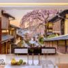 Tranh phố cổ Nhật Bản 21187