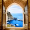 Tranh cửa sổ phong cảnh biển 2409