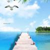 Tranh phong cảnh cầu bờ biển đẹp 2972