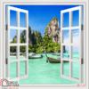 Tranh 3D cửa sổ 38374