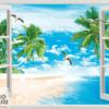 Tranh 3D cửa sổ 38372