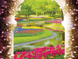 Tranh 3D công hoa đẹp 10197