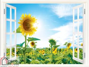 Tranh 3D cửa sổ 10236
