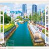 Tranh cửa sổ phong cảnh thành phố 10243