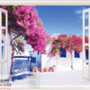 Tranh cửa sổ cây hoa giấy 10246