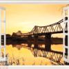 Tranh cửa sổ cây cầu 10566