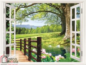 Tranh 3D cửa sổ 10693