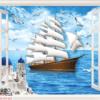 Tranh cửa sổ thuận buồm xuôi gió 10694