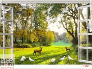 Tranh 3D cửa sổ 13015
