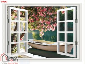 Tranh khung cửa sổ đẹp 30043