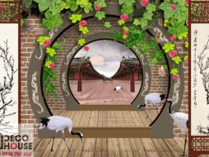 Tranh 3D cổng đẹp 5020