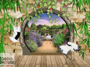 Tranh 3D cổng đẹp 5023