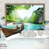 Tranh 3D cửa sổ đẹp 5379