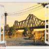 Tranh khung cửa sổ cầu Long Biên 10567