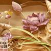 Tranh điêu khắc hoa sen 8060