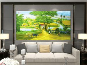 Tranh làng quê 3D 25016