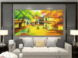 Tranh làng quê 3D 25027