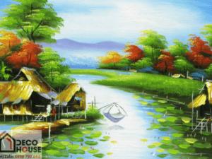 Tranh làng quê đẹp 10138