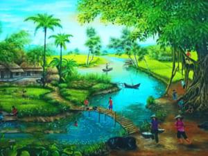 Tranh làng quê đẹp 11775