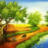 Tranh làng quê sơn dầu 11768
