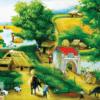 Tranh làng quê sơn dầu 21040