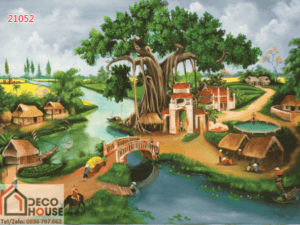Tranh làng quê sơn dầu 21052