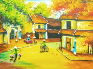 Tranh làng quê sơn dầu DQ 04