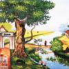 Tranh phong cảnh làng quê 21059