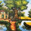 Tranh sơn dầu đồng quê 21063