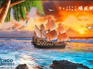 Tranh thuyền buồm 3D 10468