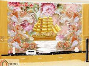 Tranh thuyền buồm mạ vàng 21238