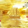 Tranh thuyền buồm mạ vàng 1113