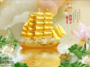 Tranh thuyền phong thủy 10866