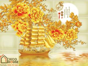 Tranh thuyền phong thủy 10870