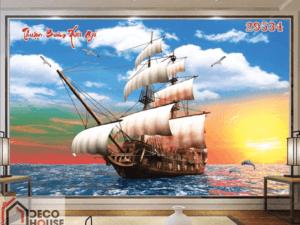 Tranh thuyền trên biển 29534