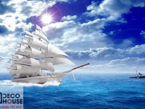 Tranh thuyền trên biển 10265